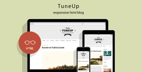 TuneUp – Responsive HTML5 Blog Template
