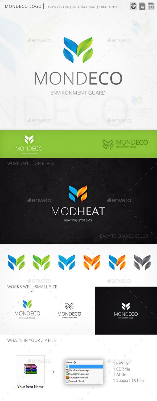 Mondeco Letter M Logo Template - Letters Logo Templates