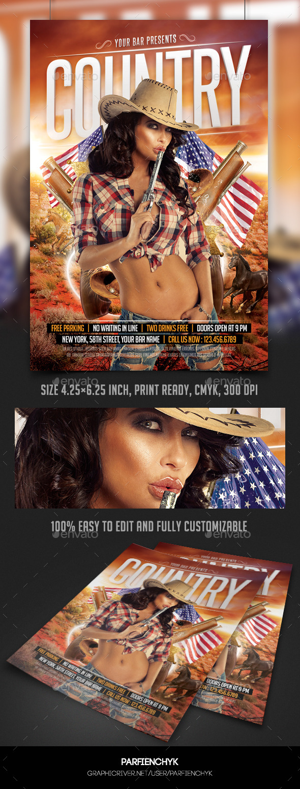 Country Flyer Template - Events Flyers
