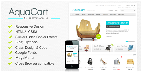Image of AquaCart - Responsive PrestaShop Theme