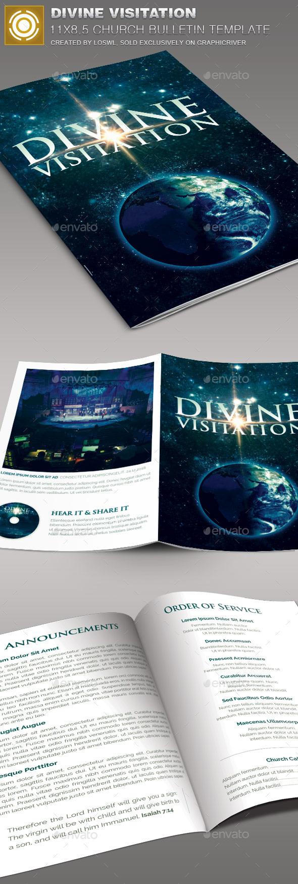 Divine Visitation Church Bulletin Template - Informational Brochures