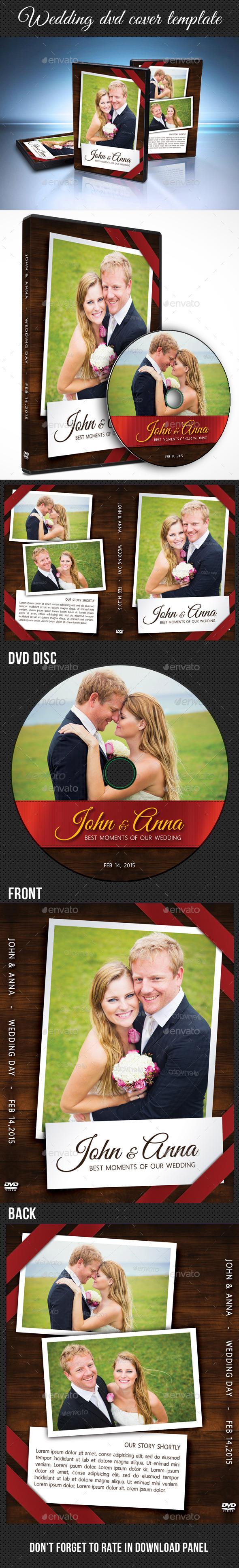 Wedding DVD Cover Template 10 - CD & DVD Artwork Print Templates