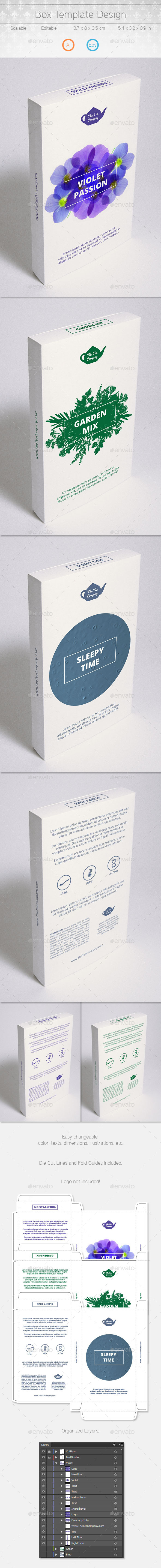 Box Design - Packaging Print Templates