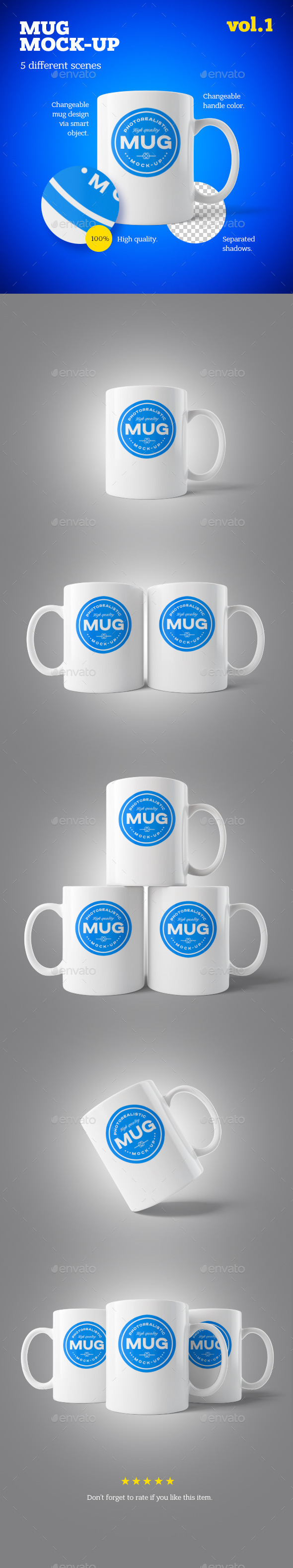 Mug Mock-up Vol.1 - Food and Drink Packaging