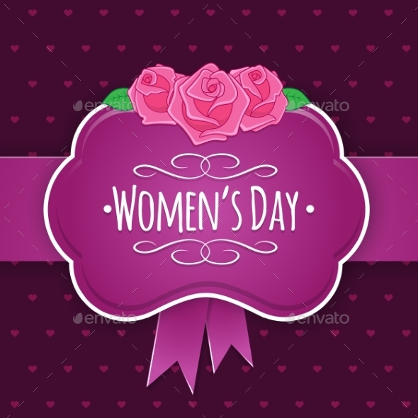 Eight 8 of March Women's Day Background - Decorative Vectors