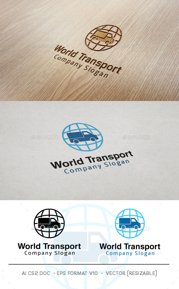 World Transport Logo  - Objects Logo Templates