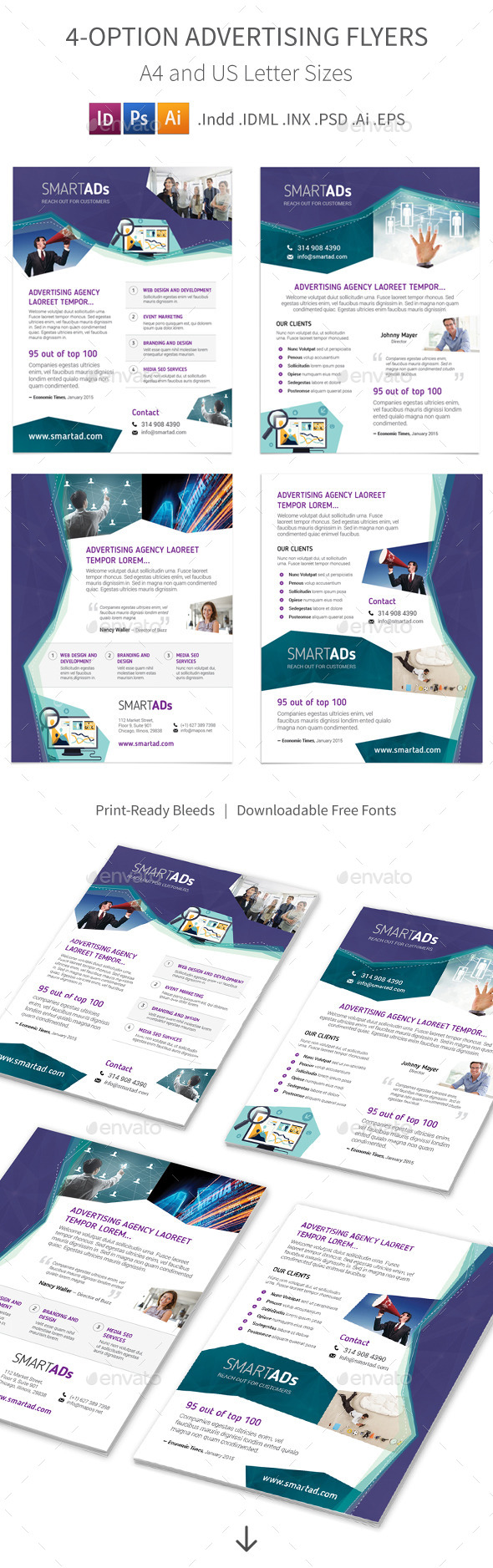 Advertising Flyers – 4 Options - Corporate Flyers