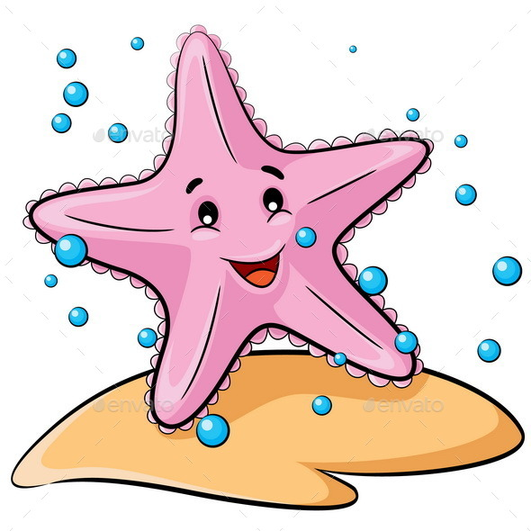 starfish cartoon by rubynurbaidi graphicriver cute clownfish clipart cute fish clipart free