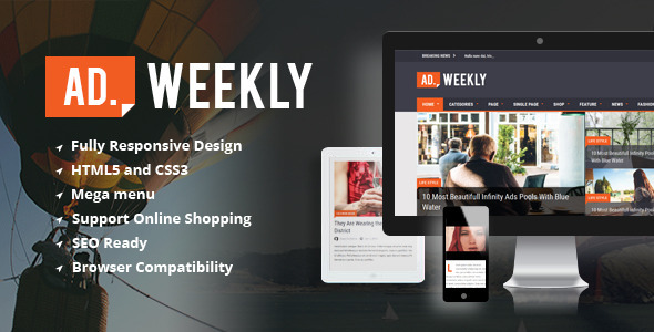 AD.WEEKLY - Magazine HTML5 Template - Corporate Site Templates
