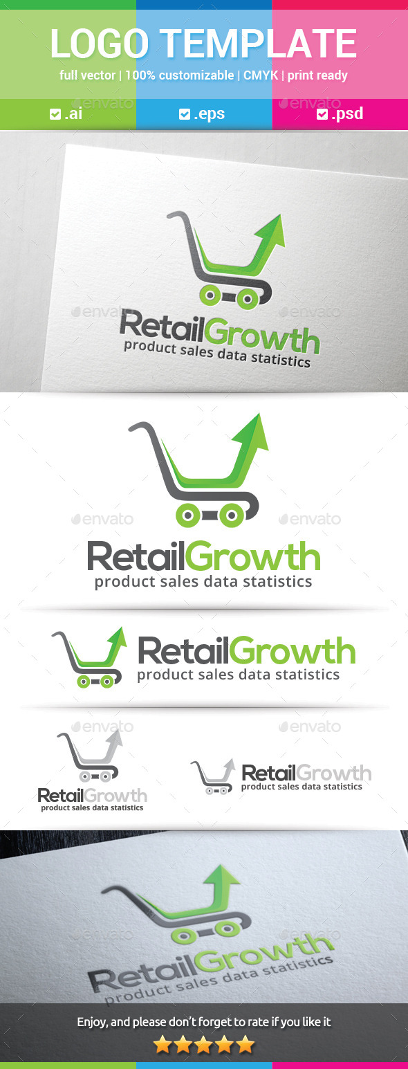Retail Growth Logo - Objects Logo Templates