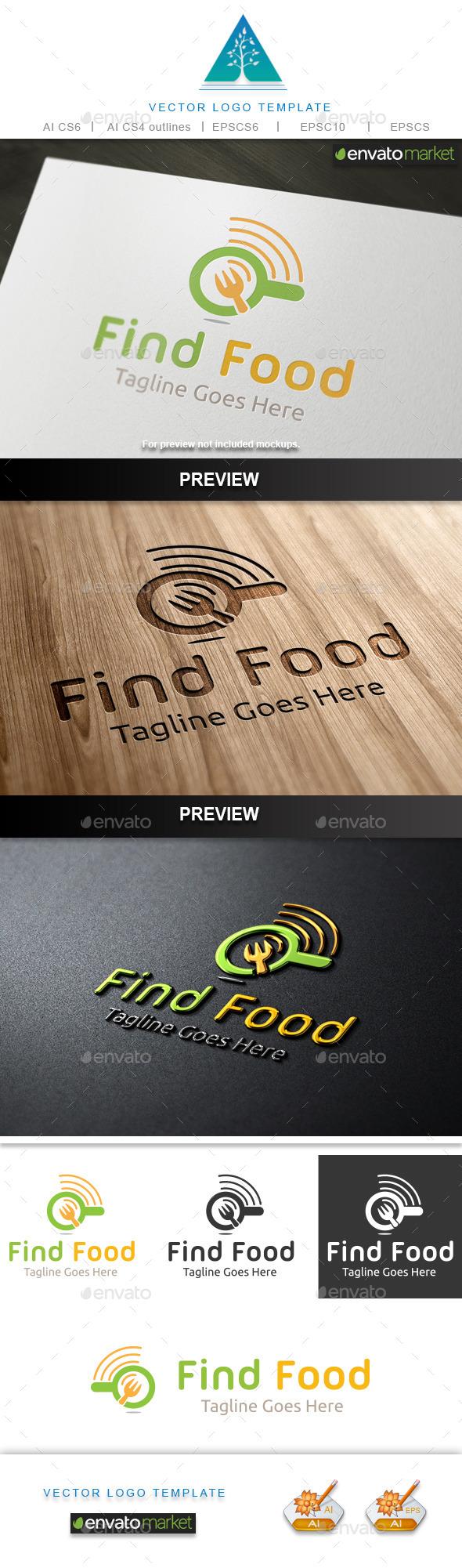 Find Food Logo 2 - Food Logo Templates
