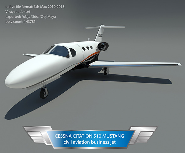 Cessna citation 510 mustang - 3DOcean Item for Sale