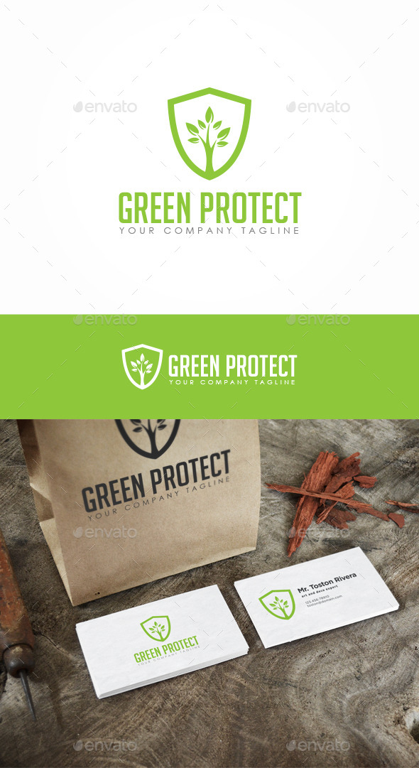 Green Protect Logo - Nature Logo Templates