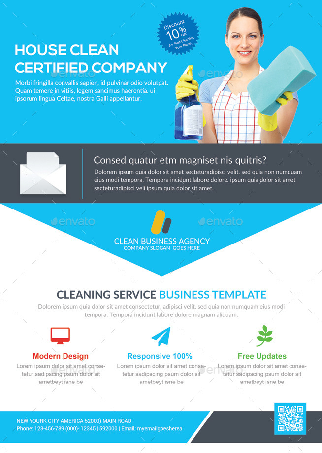 House Cleaning Services Flyer Template by GraphicForestNet ...