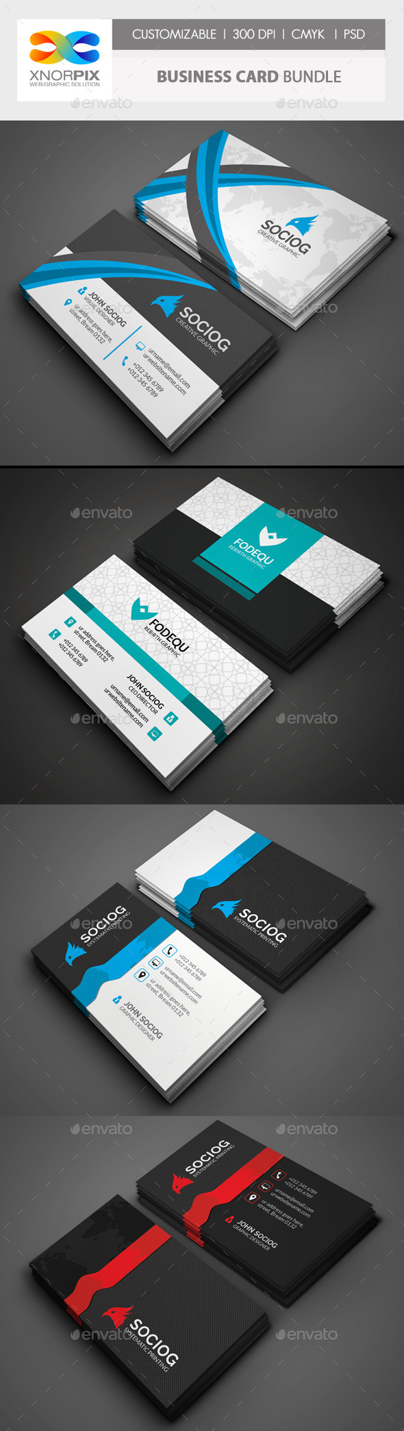 Business Card Bundle 3 in 1-Vol 47 - Corporate Business Cards