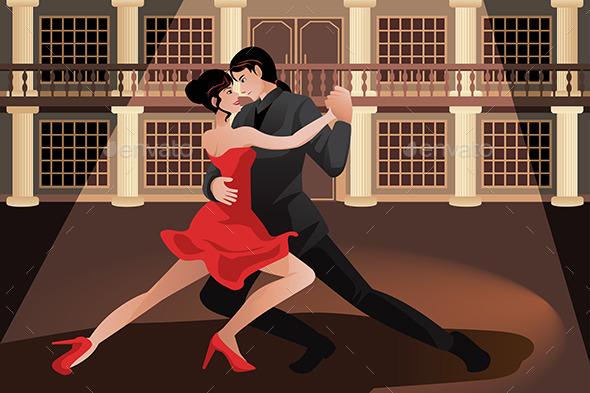 Couple Dancing Tango - Sports/Activity Conceptual