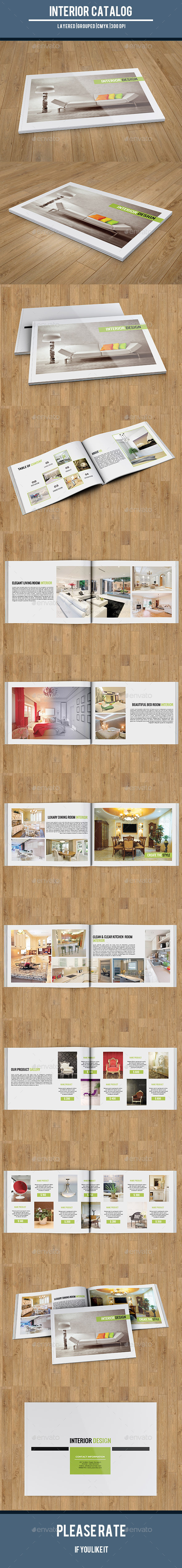 Interior Catalog Template-V148 - Catalogs Brochures