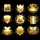 Set of Golden Shields - GraphicRiver Item for Sale