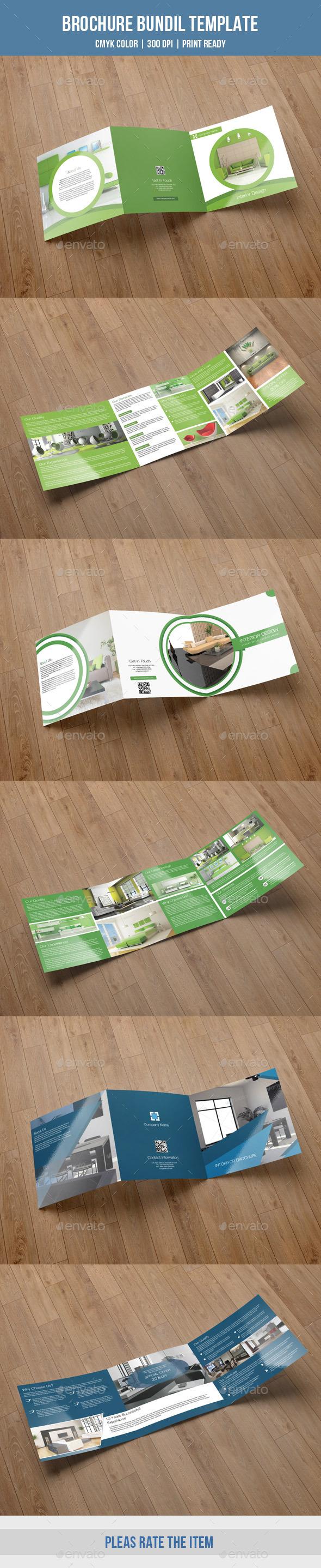 Interior Square Trifold Bundle-V08 - Corporate Brochures