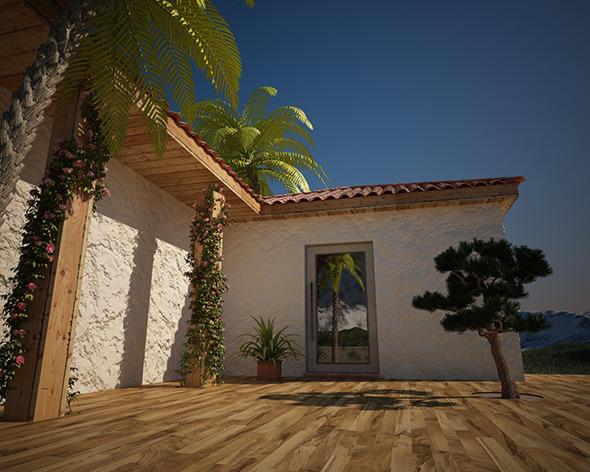 Exterior scene C4D Complete (Vray render setup) - 3DOcean Item for Sale