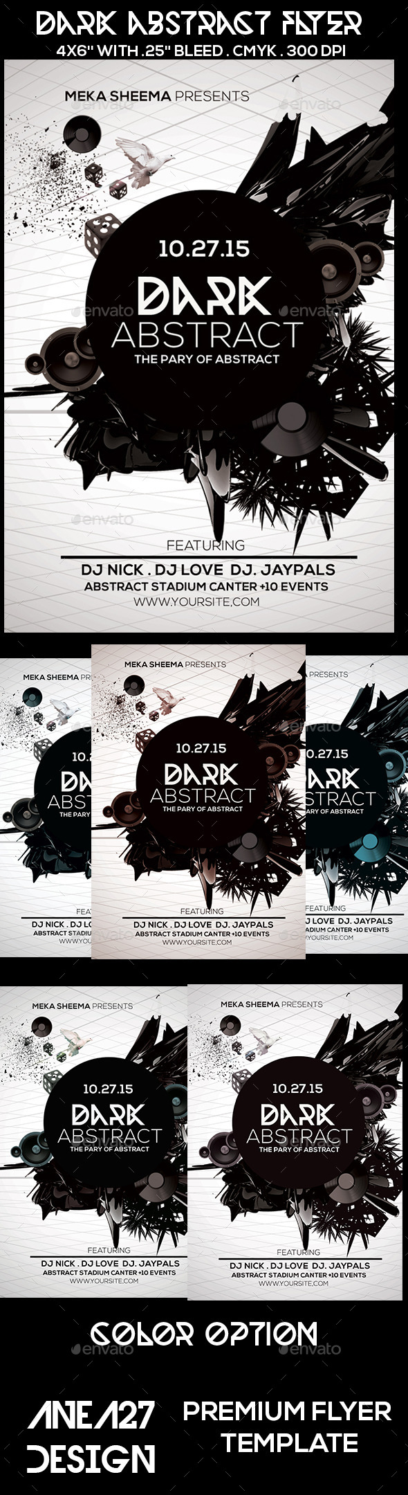 Dark Abstract Flyer - Clubs & Parties Events