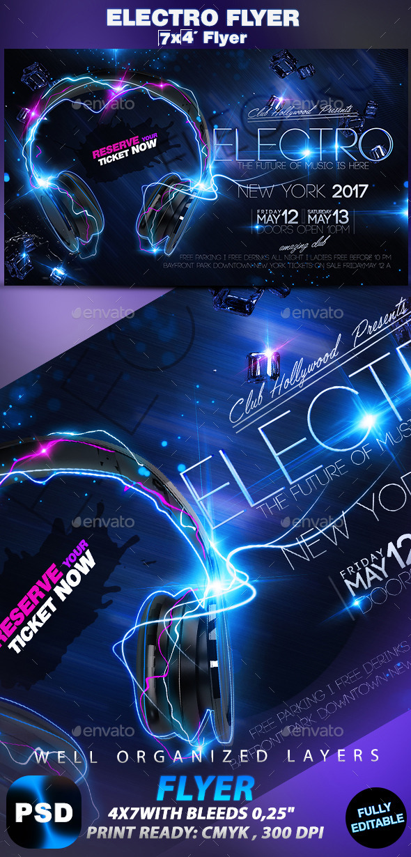 Electro Flyer - Events Flyers