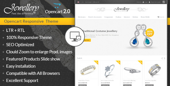 Jewellery – Opencart Responsive Template