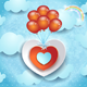 Valentine Illustration with Hearts and Balloons - GraphicRiver Item for Sale