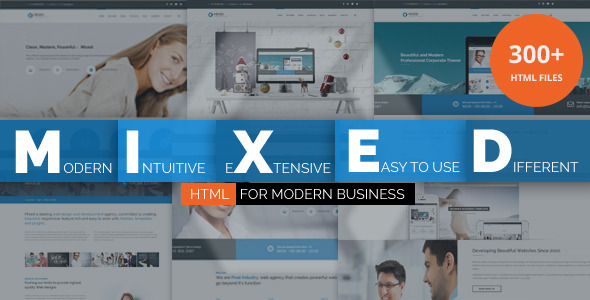 Mixed Modern and Professional HTML Template - Business Corporate