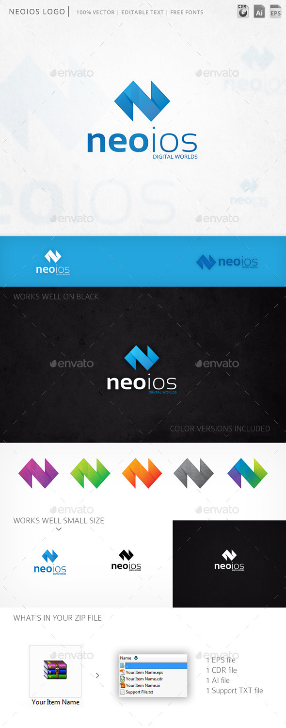 Neoios Letter N Logo Template - Letters Logo Templates
