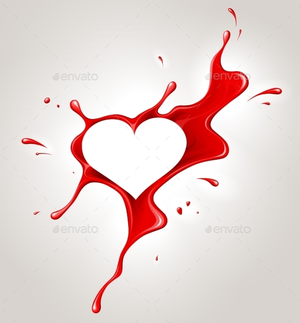 Red Spray Paint and Heart - Valentines Seasons/Holidays