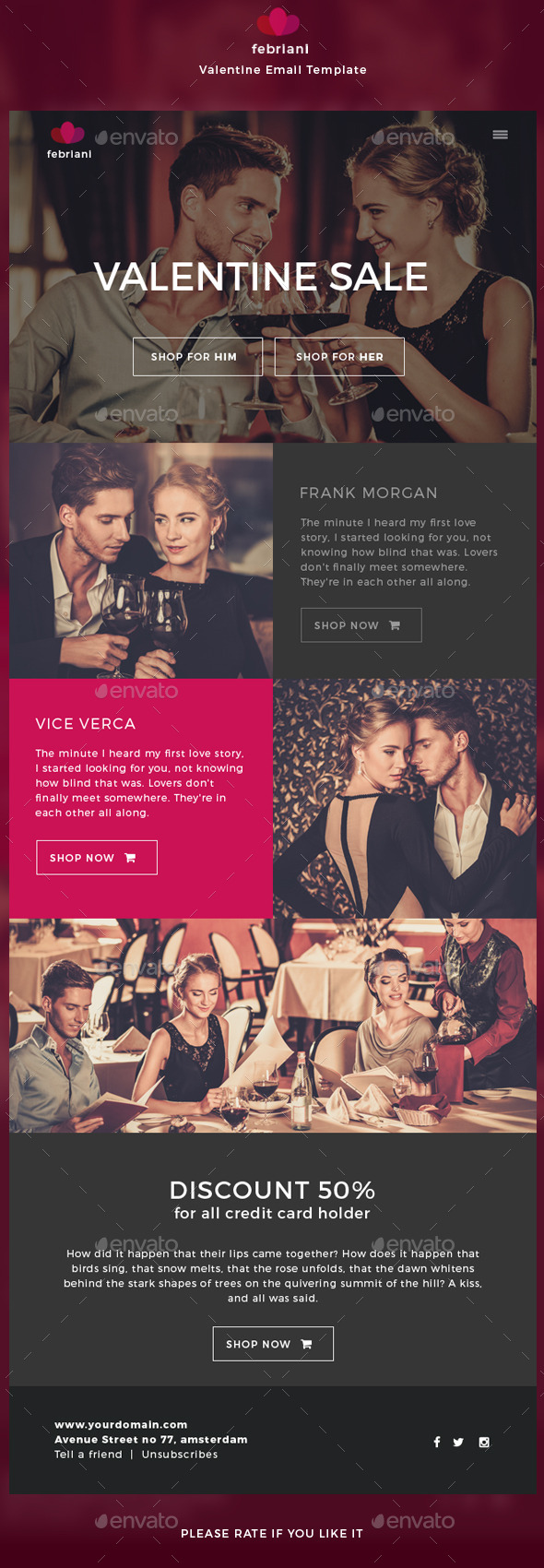 Febriani - Valentine Email Template - E-newsletters Web Elements