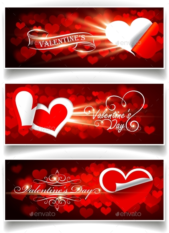 Banners on Valentine's Day - Valentines Seasons/Holidays