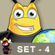 Chubby Bee Character - Set 4 - GraphicRiver Item for Sale