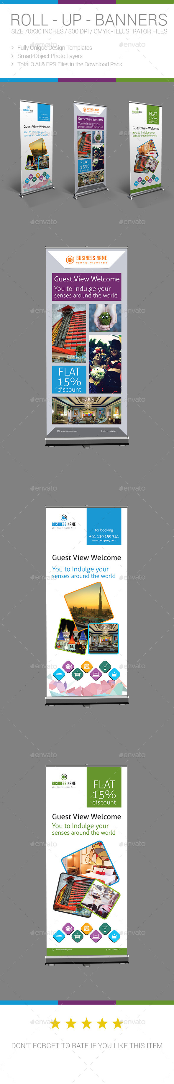 Hotel / Travel Roll-up Banner - Signage Print Templates