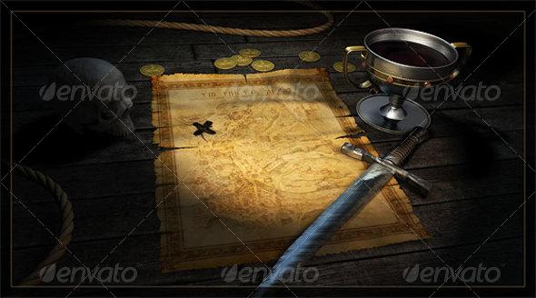 Treasure Map - Scenes Illustrations