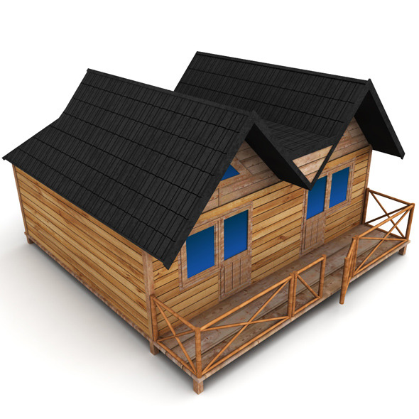 Wooden House Large - 3DOcean Item for Sale