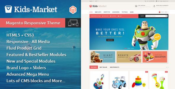 Kids Market – Magento Responsive Theme