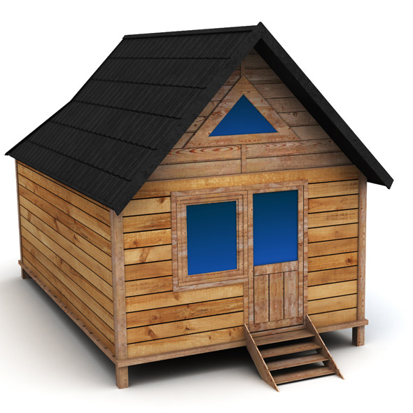 Wooden House Medium - 3DOcean Item for Sale