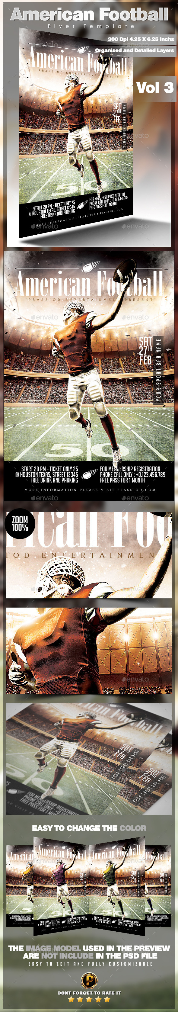 American Football Flyer Template Vol 3 - Sports Events