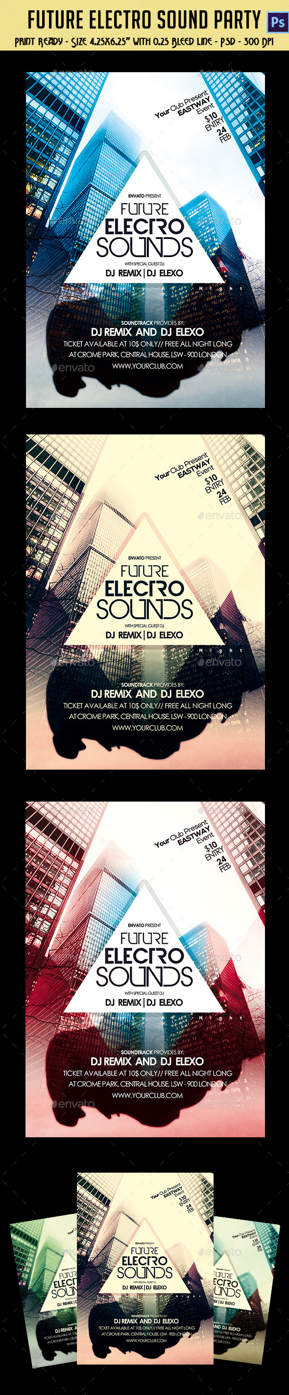 Future Electro Sounds Party Flyer - Clubs & Parties Events
