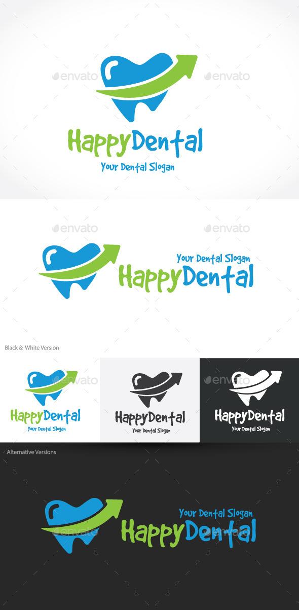 Happy Dental - Humans Logo Templates