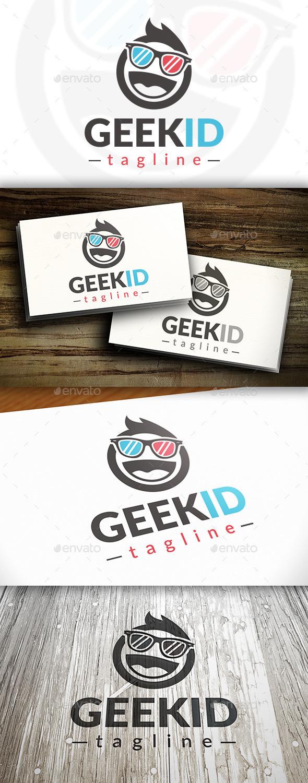 Geek Kid Logo Template - Humans Logo Templates