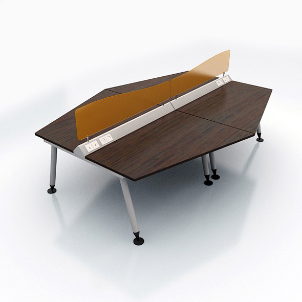 Modern Desk with Acrylic Frame - 3DOcean Item for Sale