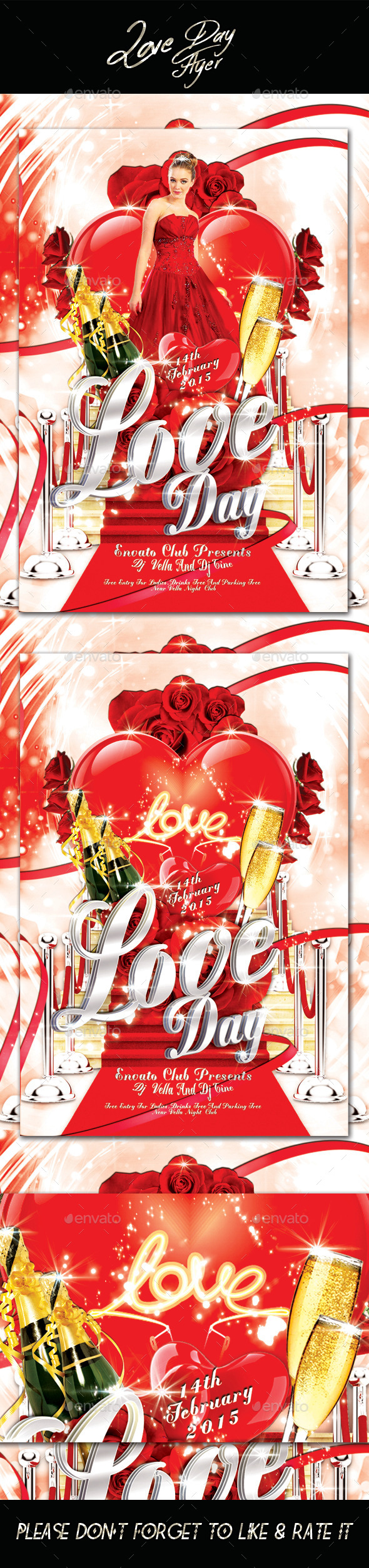 Love Day Flyer  - Flyers Print Templates