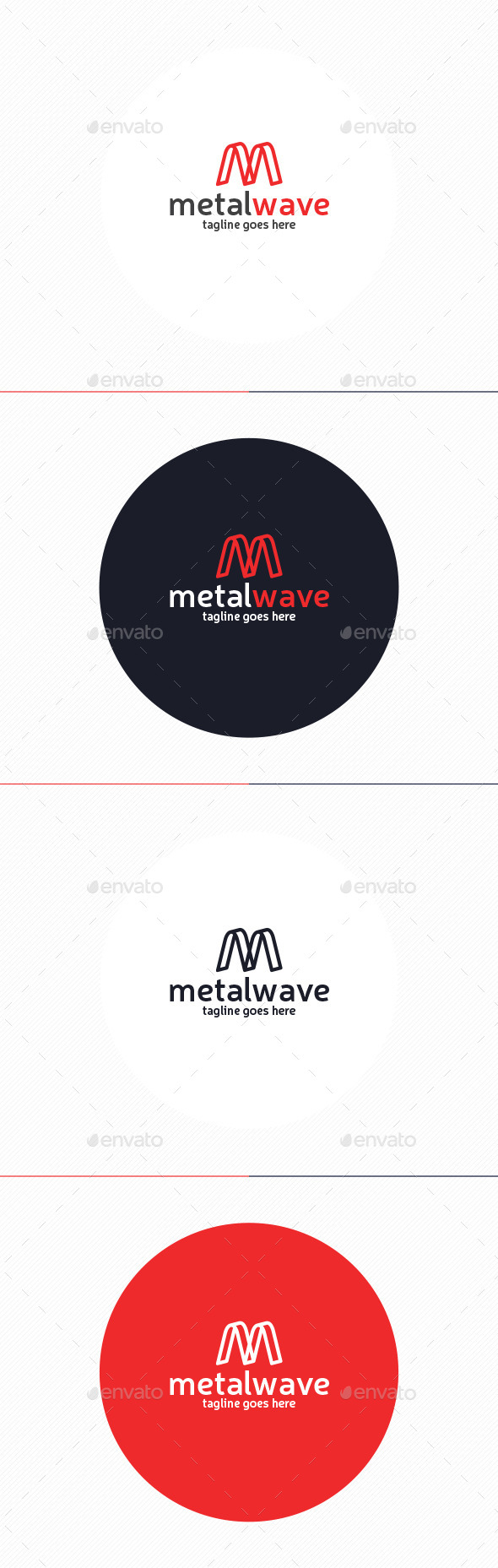Metal Wave Logo • Letter M - Letters Logo Templates