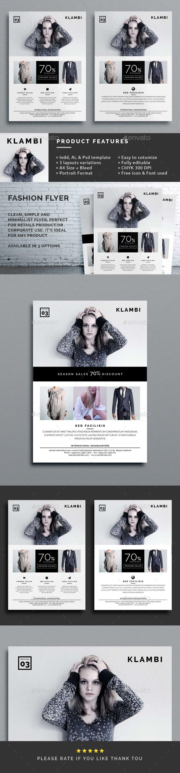 Klambi Fashion Flyer  - Corporate Flyers