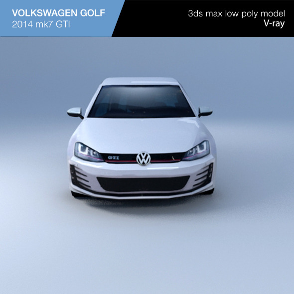 VW GOLF hatchback 2014 - 3DOcean Item for Sale