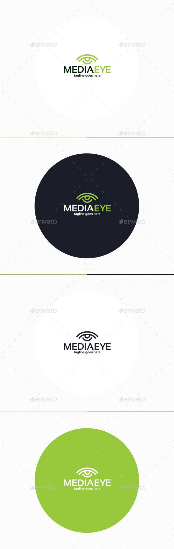 Media Eye Logo - Vector Abstract