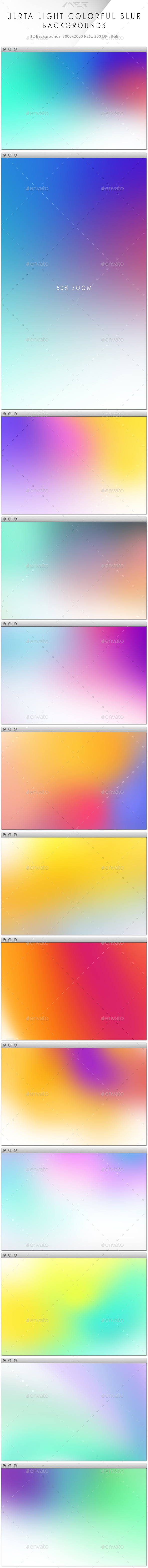 Ultra Light Colorful Blur Backgrounds - Abstract Backgrounds